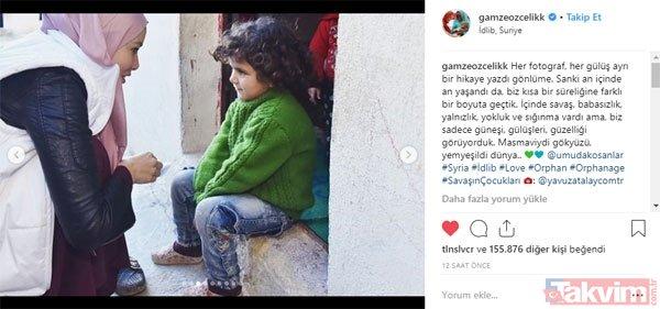 Tesettüre giren Gamze Özçelik yardım için İdlib'de...
