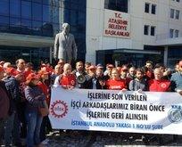 CHP'li belediyeden eyleme katılan işçilere tehdit!