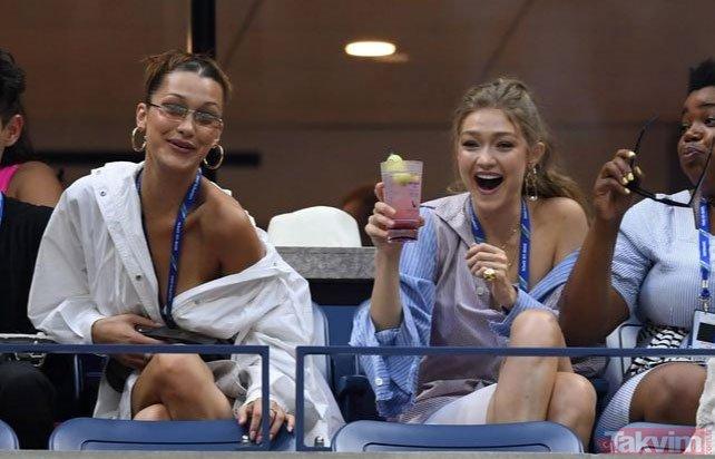 Gigi ve Bella Hadid kardeşler tribünü adeta podyuma çevirdi