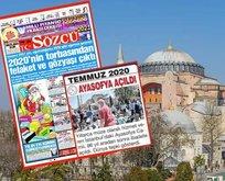 Sözcü'den skandal Ayasofya manşeti
