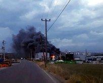Kocaeli Gebze'de fabrika yangını