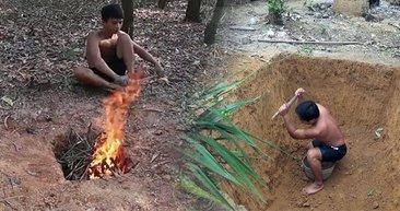Toprağı elleriyle kazıdı! Ormanda yaptıklarıyla tüm dünyayı kendine hayran bıraktı