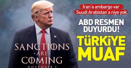 Son dakika: ABD resmen açıkladı! Türkiye yaptırımdan muaf