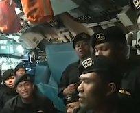 Endonezya'daki denizaltının son anları
