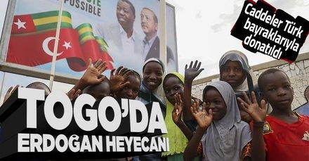 Togo'da Başkan Recep Tayyip Erdoğan heyecanı! Lome caddeleri Türk bayraklarıyla donatıldı