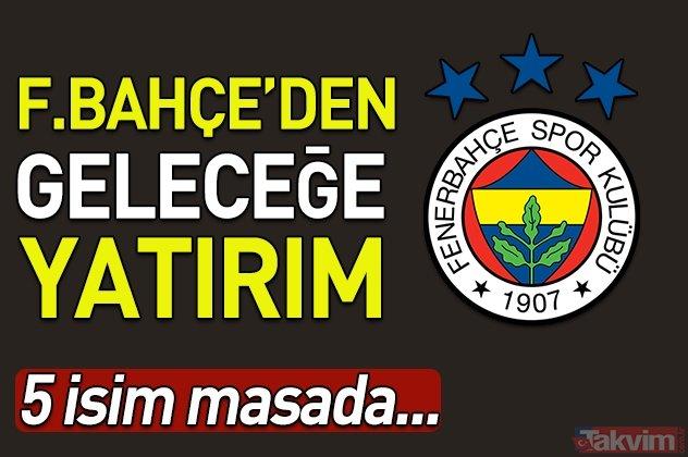 Fenerbahçe'den geleceğe yatırım! 5 isim masada...