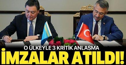 Türkiye ile Kazakistan arasında 3 yeni anlaşma