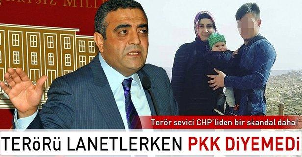 Terörü lanetlerken PKK diyemedi!