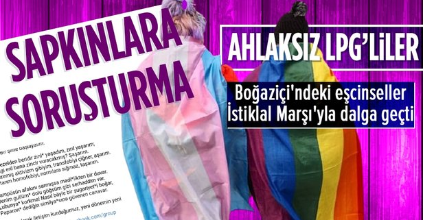 Boğaziçi'ndeki LGBT'liler İstiklal Marşı'ya dalga geçti