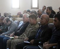 ABDli askerler Menbiçte teröristlerle buluştu