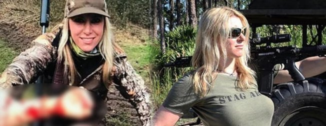 Kadın avcının paylaşımları olay yarattı!