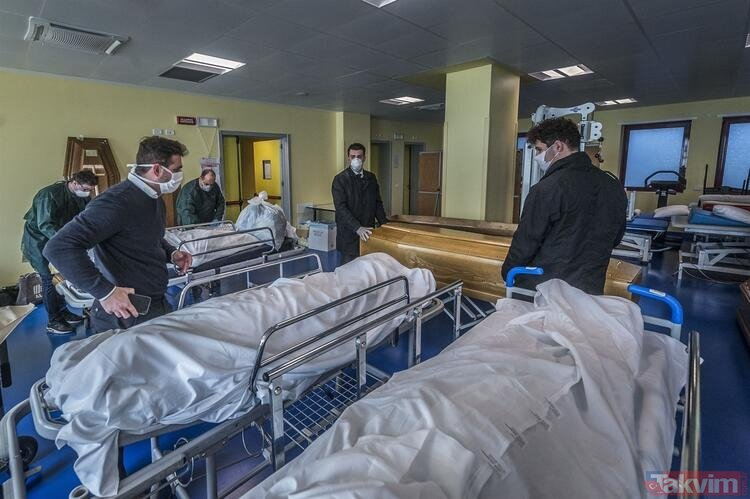 İtalya'da korona salgınından en çok darbe alan Bergamo'daki hastane ilk kez görüntülendi