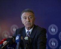 Trabzonspor Başkanı Ahmet Ağaoğlu'nun CAS heyecanı