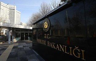 Dışişleri Bakanlığı'ndan ABD'nin skandal kararına kınama