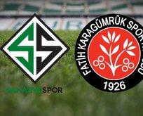 Sakaryaspor Karagümrük maçı ne zaman?