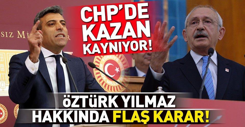 CHPden Öztürk Yılmazın itirazına ret!