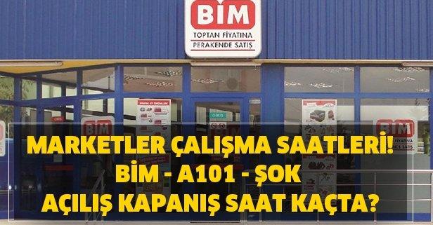 Bim A101 Sok Carrefour Calisma Saatleri Kac Oldu Marketler