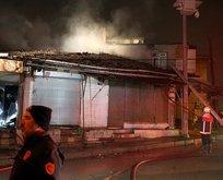 Ankara'da korkutan yangın! İş yeri kül oldu