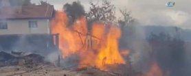 Kastamonuda yangın felaketi! 8 ev cayır cayır yandı