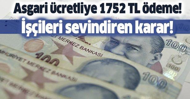Asgari ücretliye 1752 TL kısa çalışma ödeneği verilecek