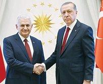 Külliyede sürpriz Erdoğan-Yıldırım görüşmesi
