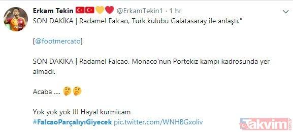 Monaco'nun Falcao kararı sonrası Galatasaray taraftarı sosyal medyayı ayağa kaldırdı!