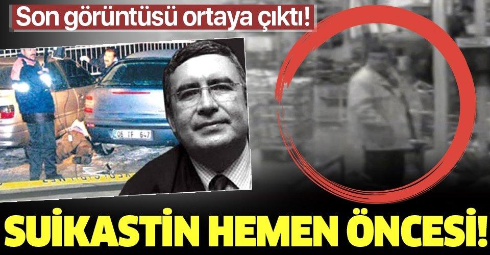 İşte Doç. Dr.NecipHablemitoğlu'nun saldırıya uğramadan önceki son görüntüleri