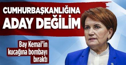 İYİ Parti Genel Başkanı Meral Akşener: Cumhurbaşkanlığına aday değilim
