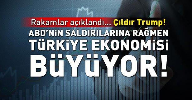 ABDnin saldırılarına rağmen Türkiye ekonomisi büyüyor!