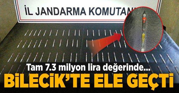Bilecik'te ele geçirildi! 7.3 milyon lira değerinde…