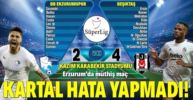 Beşiktaş, Erzurum deplasmanında galip!