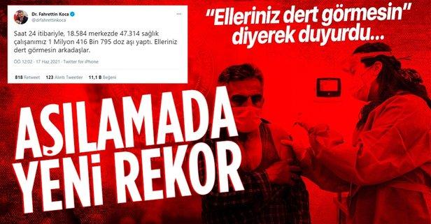 Türkiye'de aşılamada yeni rekor!