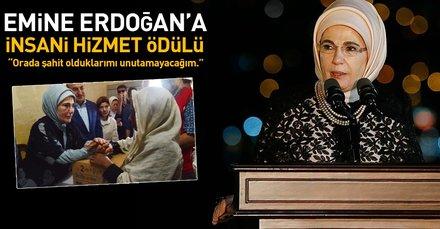 Emine Erdoğana Londrada insani hizmet ödülü