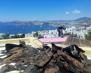 Can Dündar'ın kaçak villasında yıkım başladı