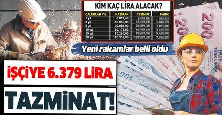 SSK'lı çalışanların yıllık tazminatı 6 bin 379 liraya yükseldi! Hangi çalışan ne kadar kıdem tazminatı alacak?