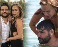 Begüm Öner eşi Ceyhun Fersoy plajı salladı!