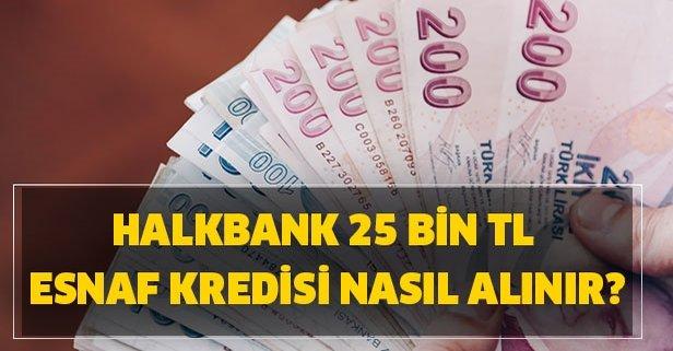 Esnaflara 25 bin TL kredi… Halkbank esnaf kredi başvurusu nasıl yapılır?