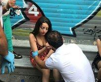 İstiklal Caddesi'nde motosiklet dehşeti!