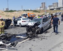 Başakşehir'de zincirleme kaza!