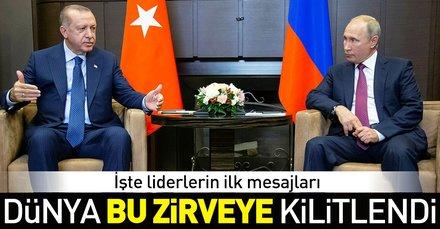 Son dakika: Başkan Erdoğan ile Putinin görüşmesi sona erdi