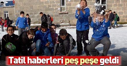 Kar tatili haberleri peş peşe geldi! 10 Ocak Perşembe kar tatili olan il ve ilçeler hangileri?