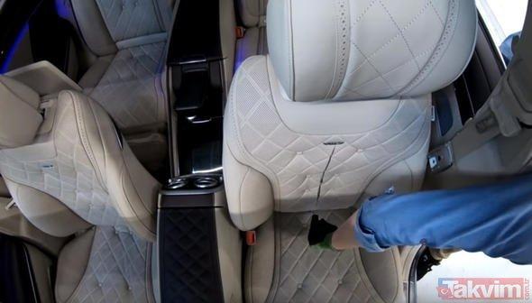 Mercedes koltuğunu didik didik etti! İçinden çıkanlara inanamayacaksınız
