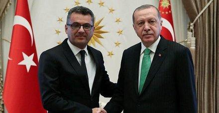 Başkan Erdoğan Kuzey Kıbrıs Türk Cumhuriyeti (KKTC) Başbakanı Tufan Erhürmanı kabul etti