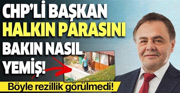 CHP'li başkan, evini belediye işçilerine yaptırdı