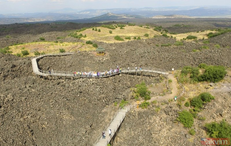 Kula Jeoparkına ilgi hızla büyüyor! 5 yılda 11 kat ziyaretçi artışı oldu
