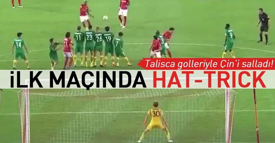 Talisca, Çinde hat-trick yaparak coştu