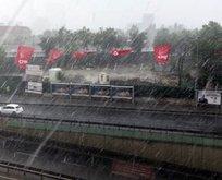 İstanbul'da beklenen yağış başladı!