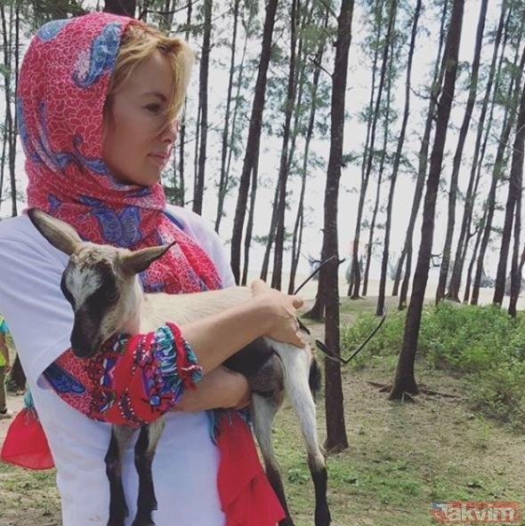 Gamze Özçelik'ten köy ziyareti