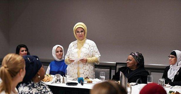 Müslüman toplumun kadın temsilcileriyle buluştu
