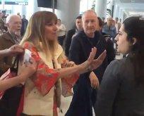 Havalimanındaki skandala sert tepki: Terbiyesiz!